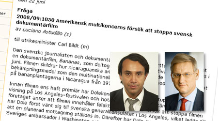 The letter to Carl Bildt